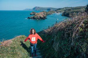 Jo on the South West Coast Path